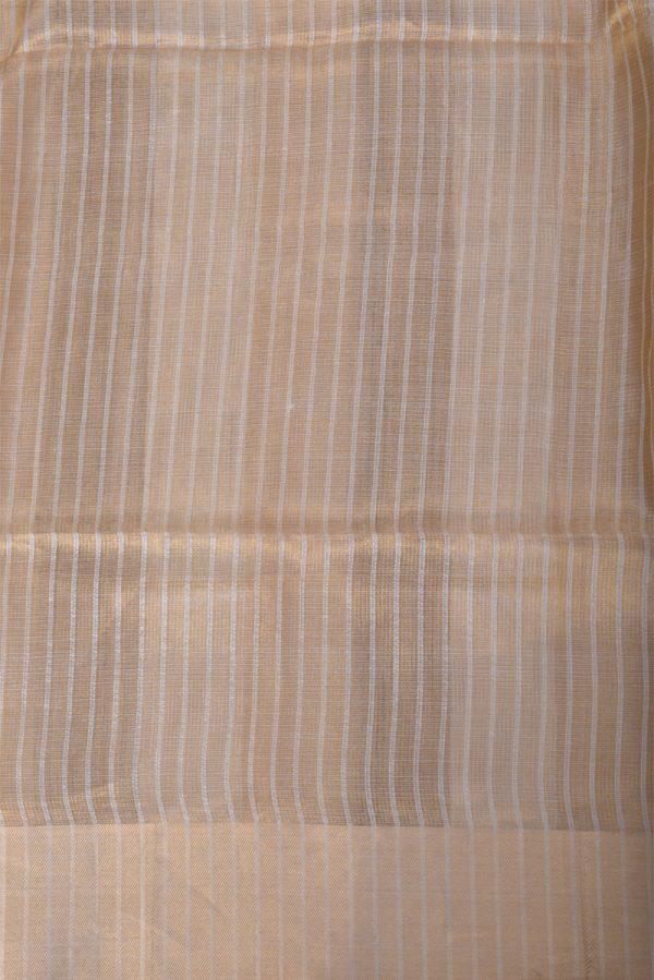Gold tissue linen saree-13645