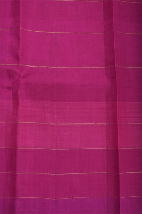 Navy blue kanchi silk with pink border-12745