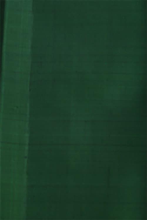 Majenta kanchi silk saree with green border-12749