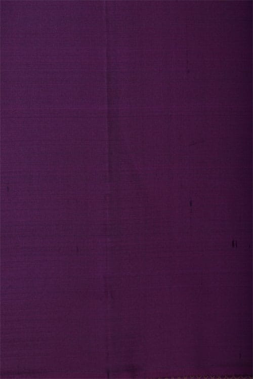 Green kanchi silk sari with purple border-12751