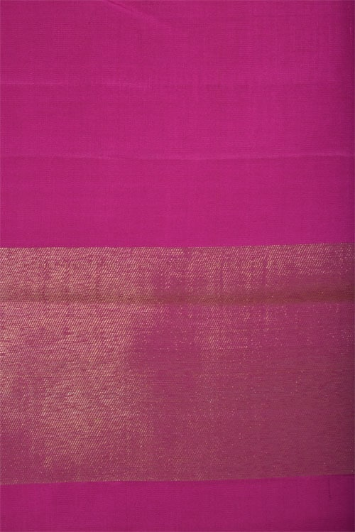 Pink kancipuram silk saree in raising pattern-12757