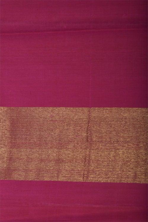 Burnt orange silk saree with ganga jamuna border-12763