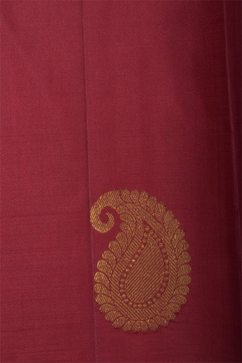 Lime green kanchi in partly pallu style-12773