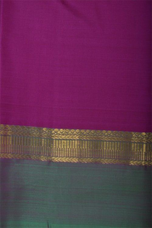 Pure kanchipuram silk saree in yellow-12775