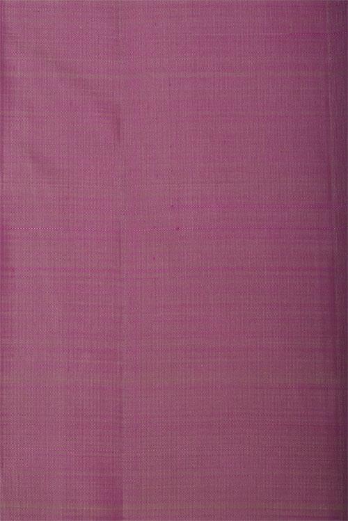 Beige with mauve partly pallu kanchi silk saree-12777