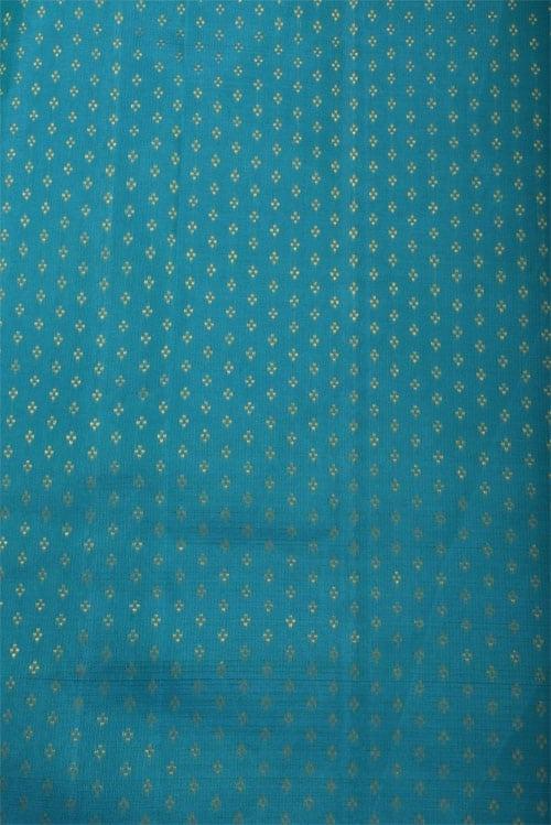 Blue ajrakh silk saree-12785