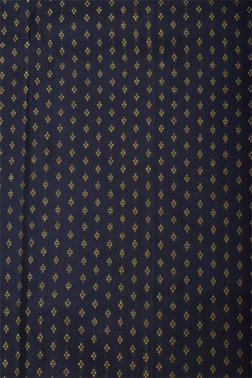 Dark green ajrakh silk saree-12791