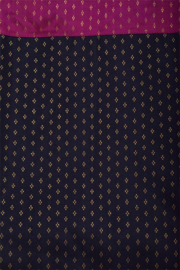 Black kalamkari georgette saree-12880