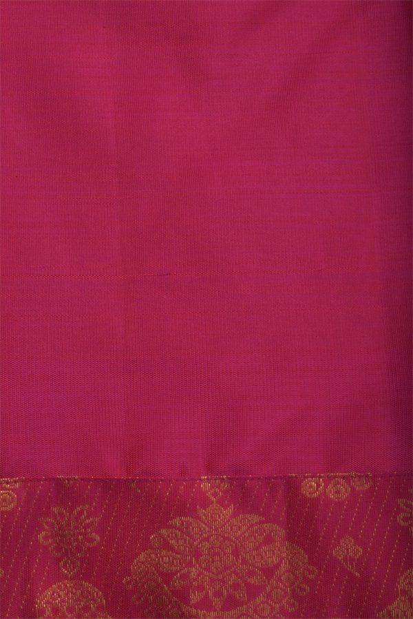 Peach chiffon kancheepuram fusion saree-12882