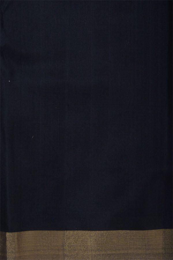 Beige black polka soft silk saree-12890