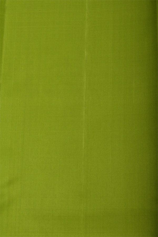 Plain blue silk saree with green border-12912