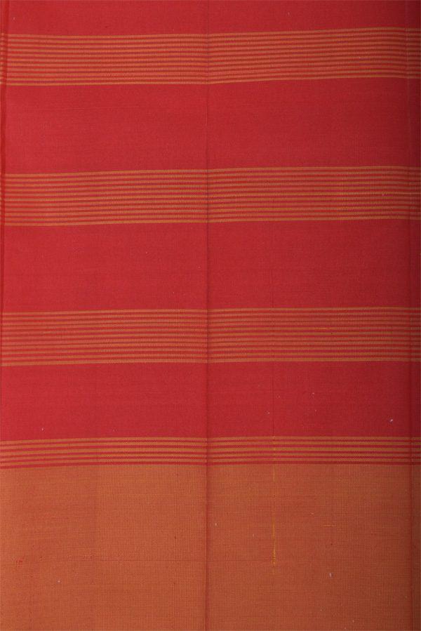 Apple green red half and half soft silk saree-12934