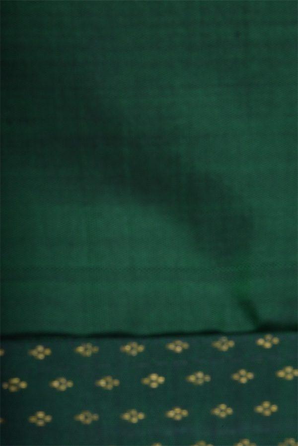 Pink checks chiffon green silk fusion saree-12932