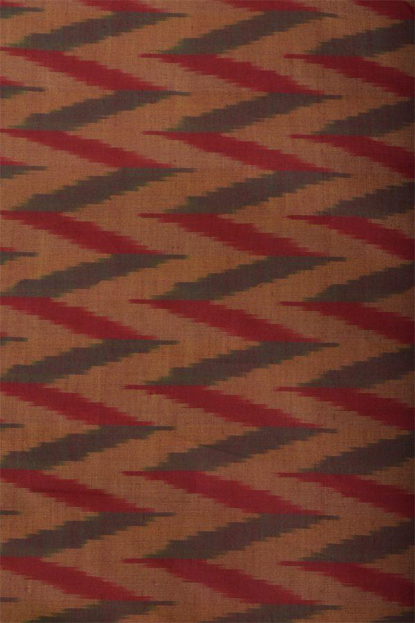 Red and burnt orange semi organza cutwork saree-12930