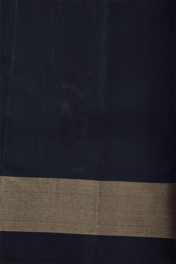 Green soft silk saree with black border-12976
