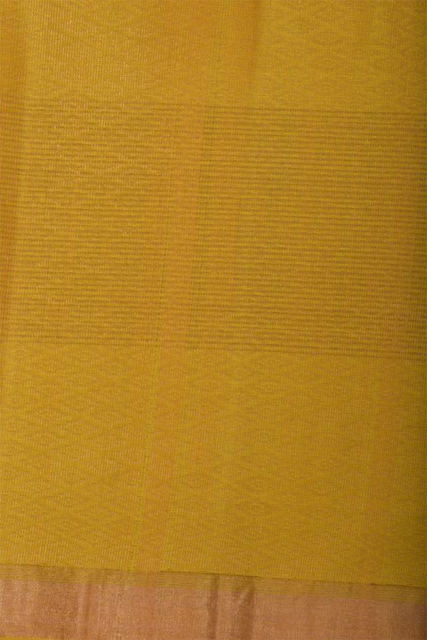 Green yellow partly pallu soft silk saree-13014