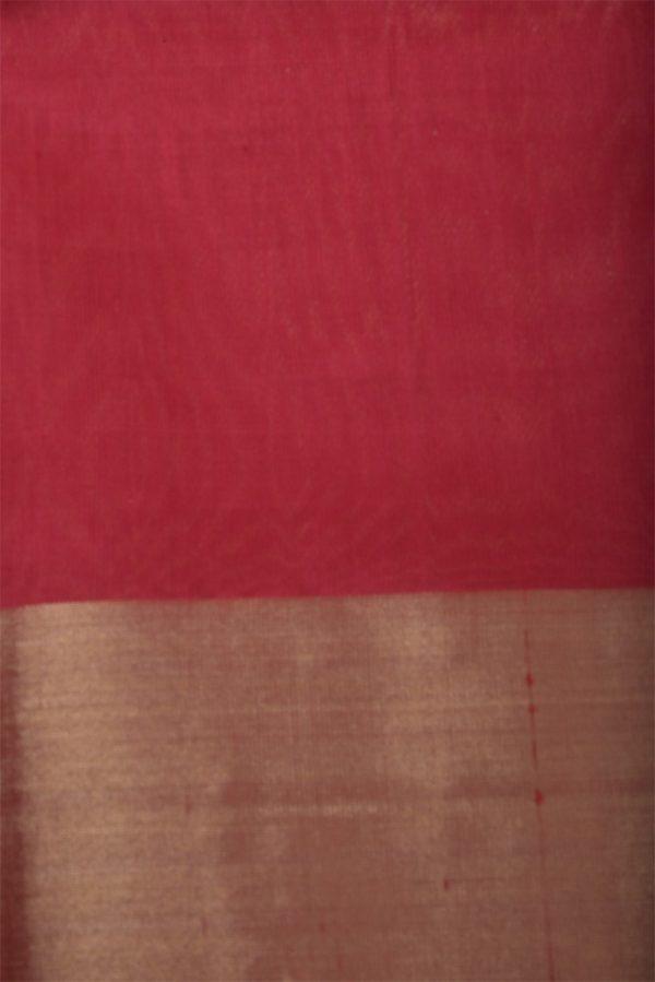 Green with multicolour half soft silk saree-13028