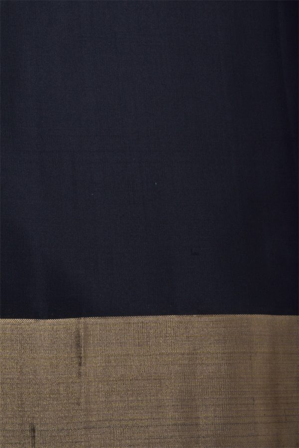 Grey black and red soft silk saree-13032