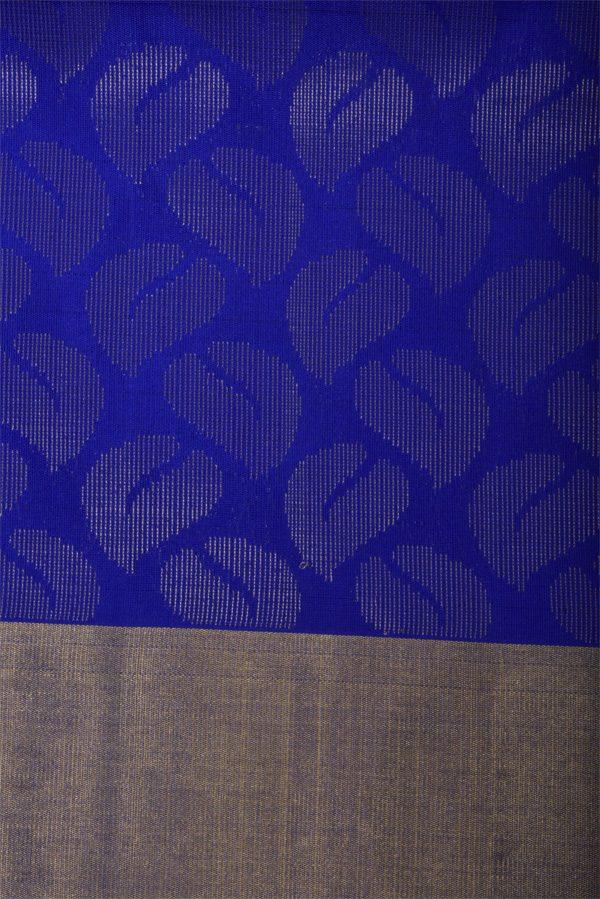 Orange soft silk saree with blue pallu-12980