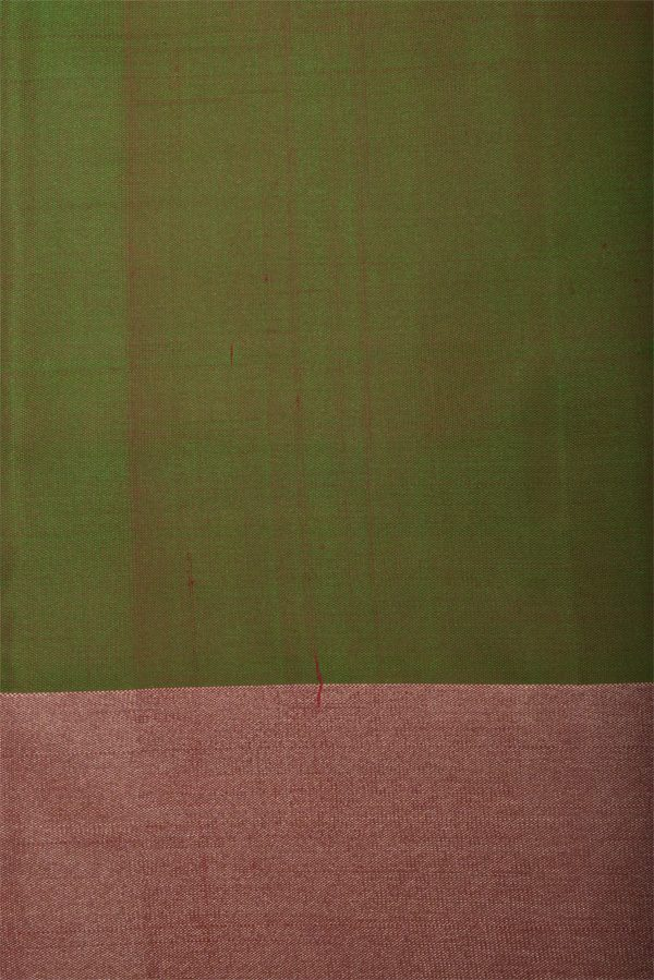 Pink silk saree with coloured stripes-12990