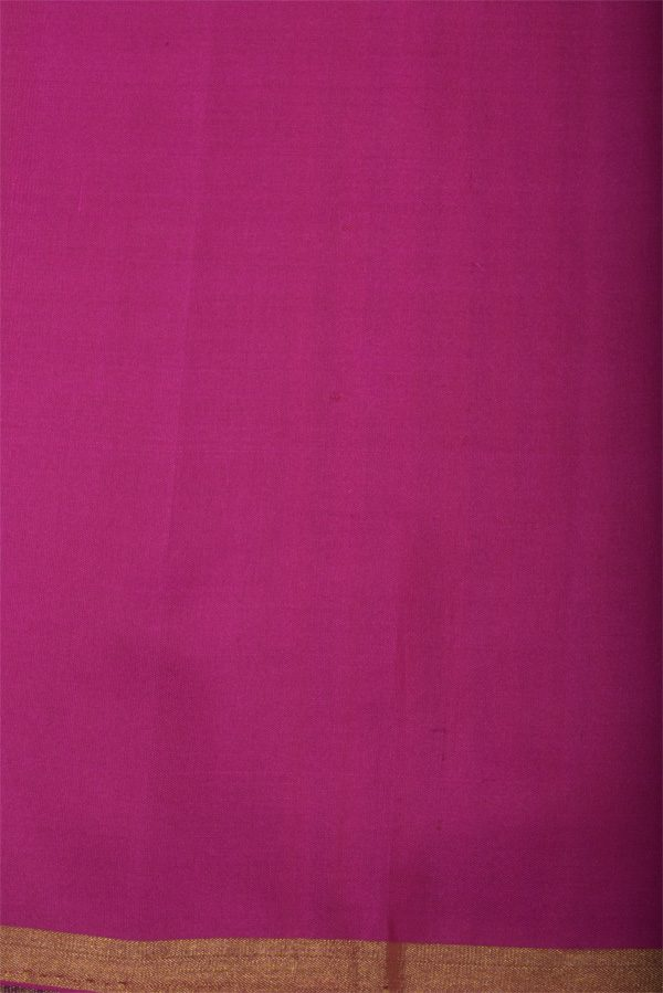 Plain orange silk saree with multicolour border -12992