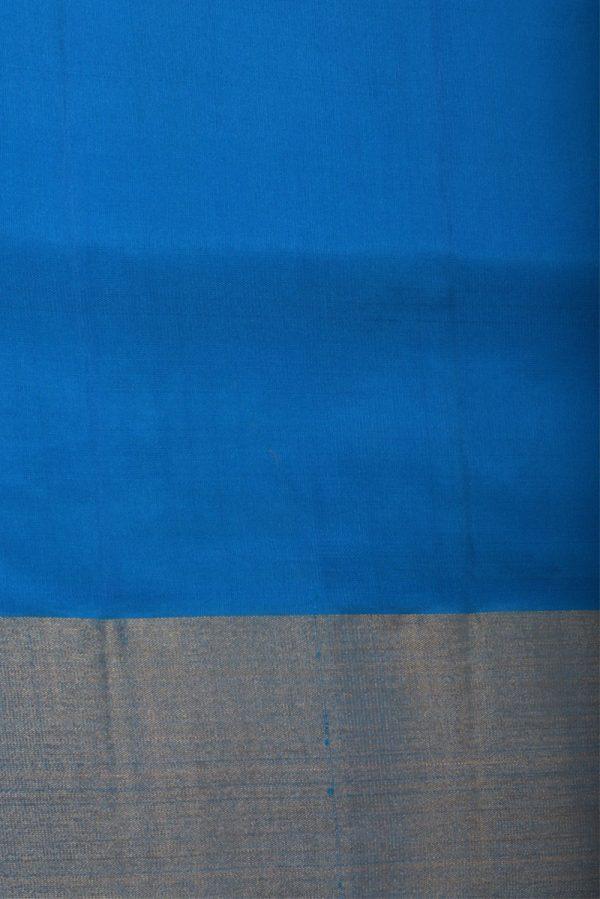 Green pink ikat weave silk saree-13119
