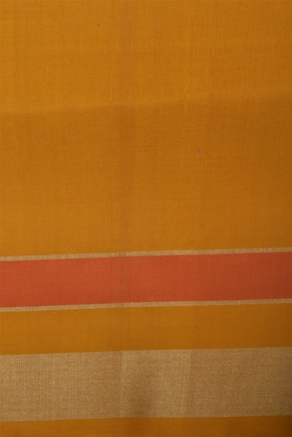 Violet ikat style silk saree with yellow border-13101