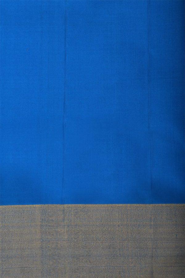Blue green partly pallu silk saree-13109