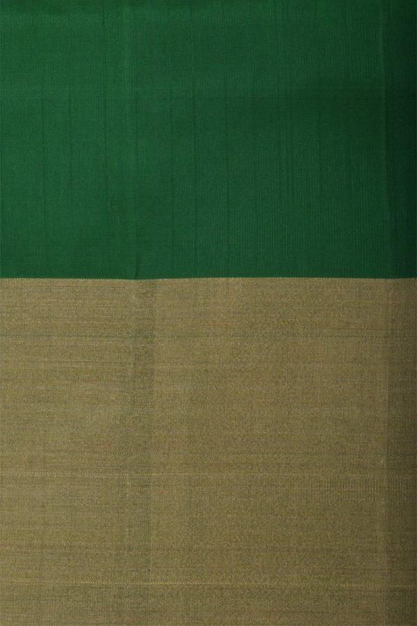 Yellowgreen partly pallu silk saree-13105