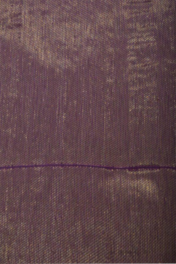 Deep mauve floral zari soft silk saree-13142