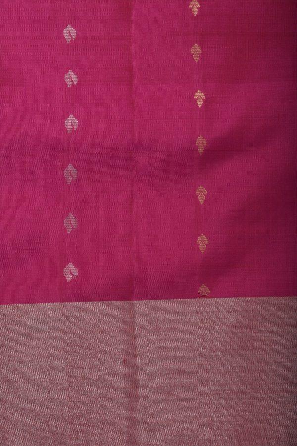 Lime green soft silk saree with silver zari-13144