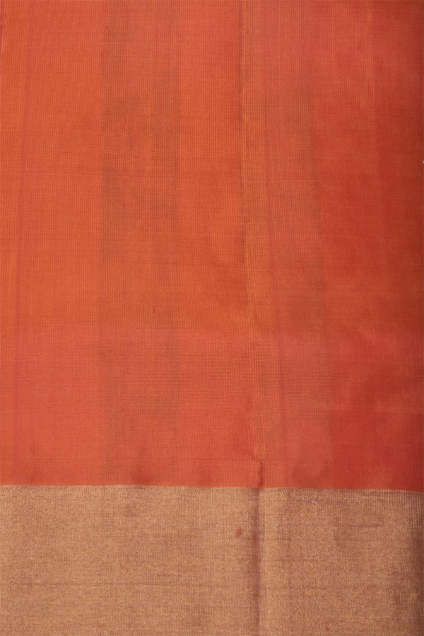 Bright Red soft silk brocade saree-13148