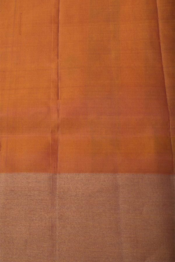 Red soft silk brocade saree-13154