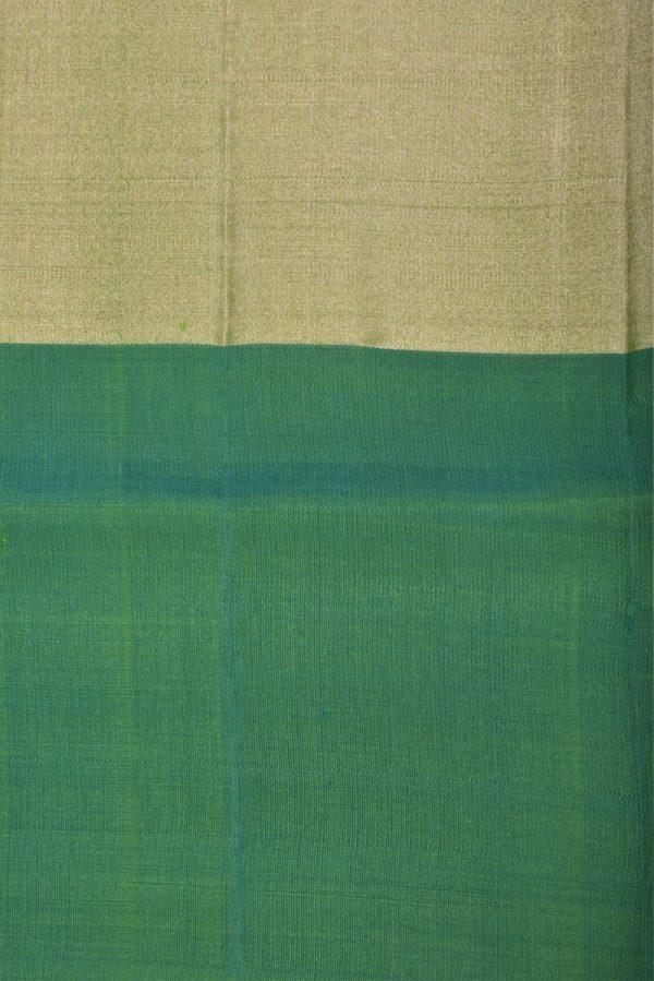 Multicolour green zari patti soft silk saree-13160