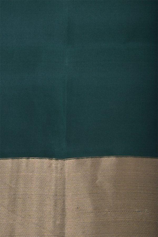 olive green thread temple soft silk saree-13198
