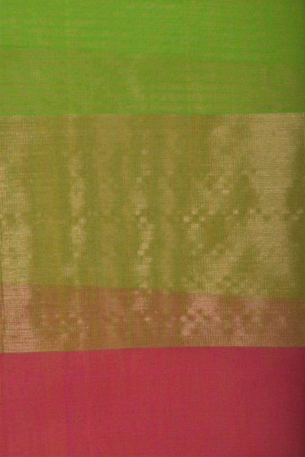 Greenorganza saree-13206