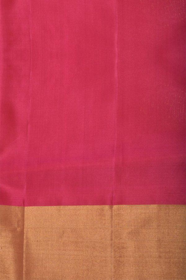 Teal multicolour partly pallu silk saree-13214