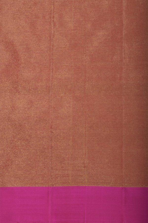 Redlong border saree with zari-13236