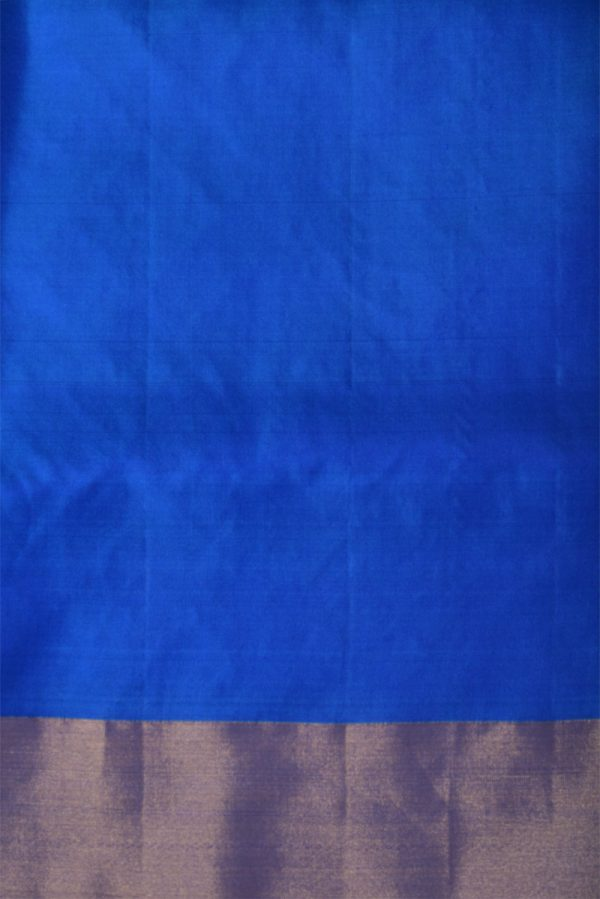 Green checks elephant weave silk saree-13262