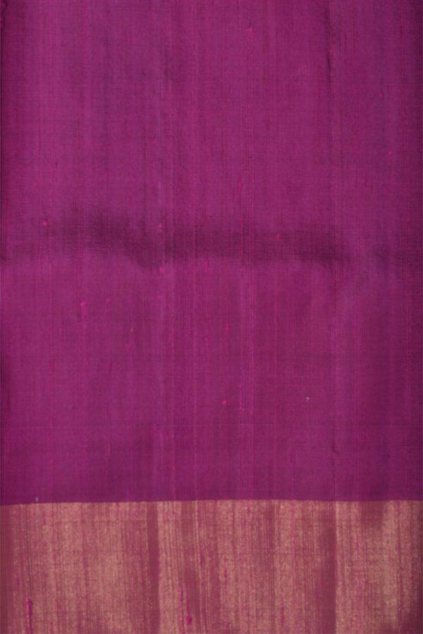 Black silk saree with thread woven border-13268