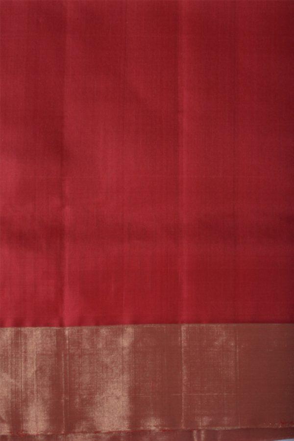 Red silk saree with thread border-13657