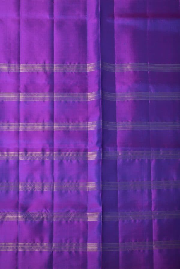 majentaRoyal blue half and half silk saree-13673
