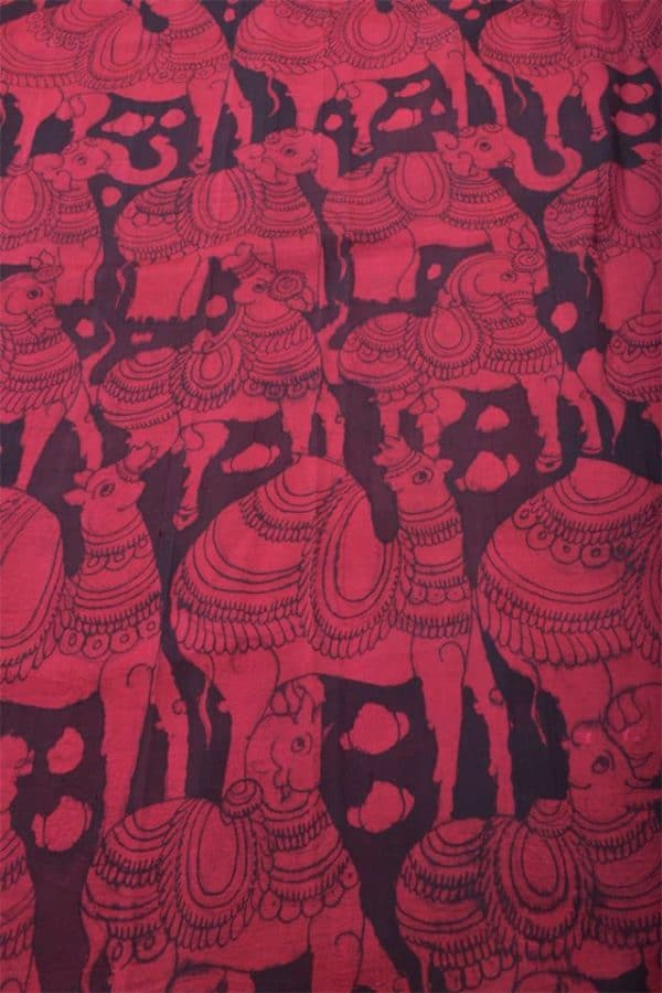 Beige tussar printed cross to cross saree-14214