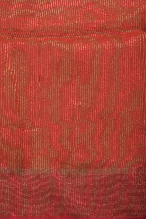 Orangemutka silk saree with organza pallu-14036