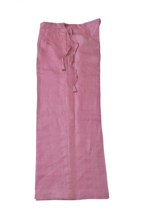 Light pink tussar printed suit-13992