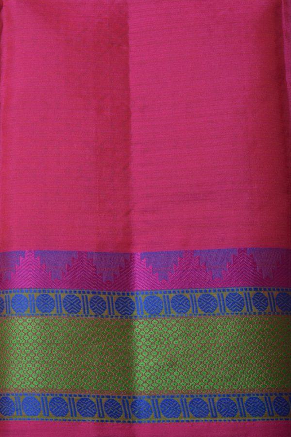 Orange soft silk saree with thread border-14129