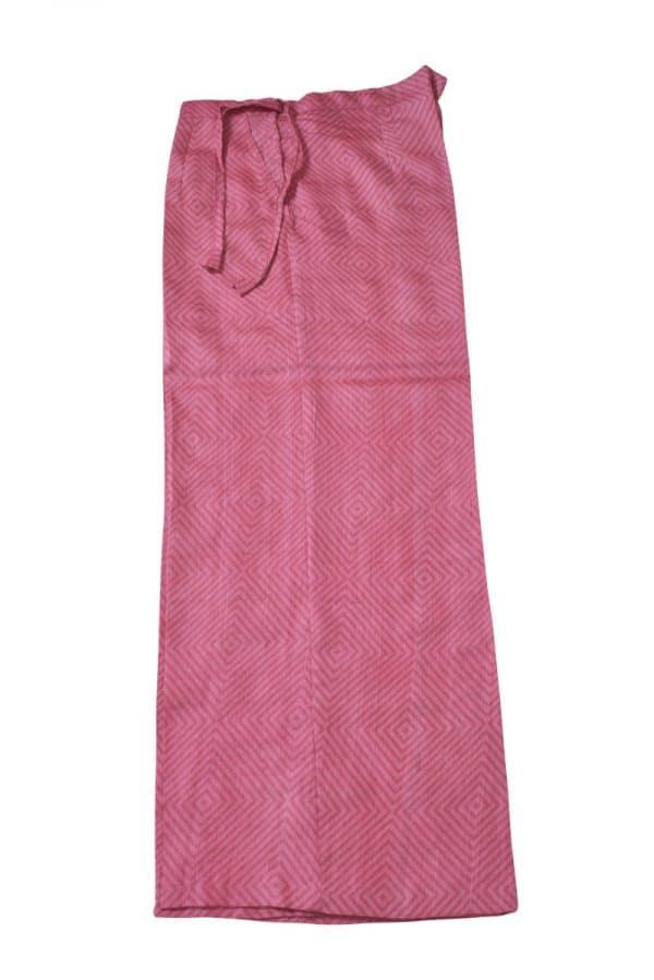 Pink leaf print tussar suit-14168