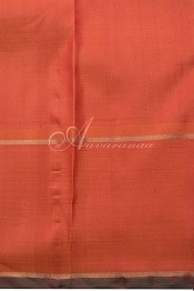 Pink checks kanchi silk saree with lotus motif-14216
