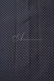 Pink black half and half kanchi silk saree-14229