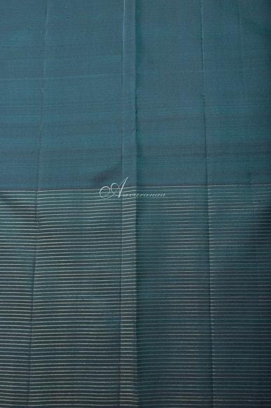 Cobalt blue kanchi silk saree-14235